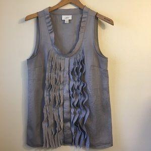 Ann Taylor Loft Sleeveless Gray Blouse Size Medium